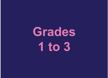 Grades 1 to 3