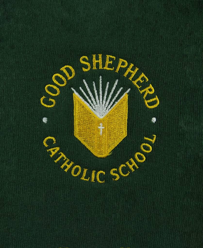 School Apparel A+ Green Cardigan Sweater #6300