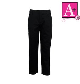 School Apparel A+ Black Mid-rise Pant #7540