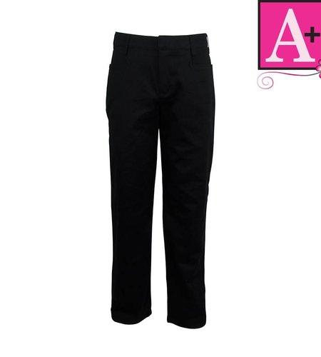 School Apparel A+ Black Mid-rise Pant #7540