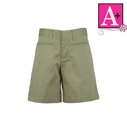 School Apparel A+ Khaki Plain Front Walk Shorts #7362R