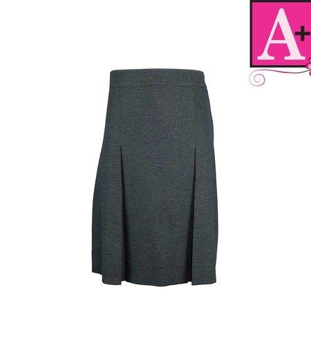 School Apparel A+ Grey Gabardine 4-pleat Skirt #1034PS