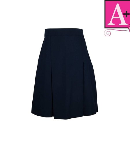 School Apparel A+ Navy Gabardine 4-pleat skirt #1034PS