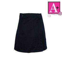School Apparel A+ Navy Twill Skort #7931