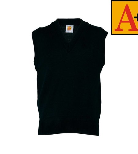 School Apparel A+ Green Sleeveless Sweater Vest #6600