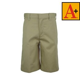School Apparel A+ Khaki Plain Front Walk Shorts #7099