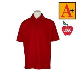 School Apparel A+ Red Short Sleeve Pique Polo #8760