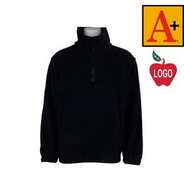 School Apparel A+ Navy Blue Half Zip Fleece Jacket #6235