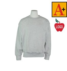School Apparel A+ Ash Grey Crew-neck Sweatshirt #6254