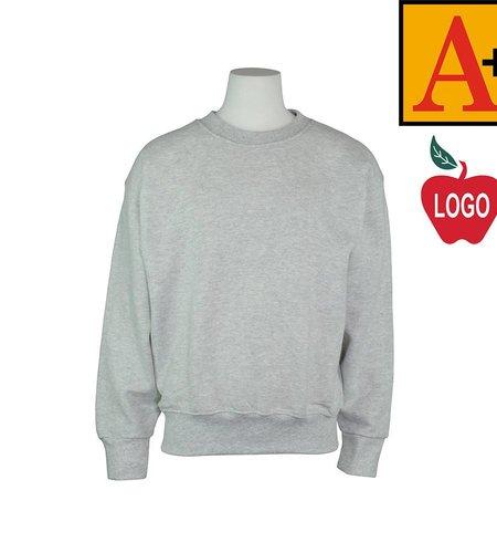 School Apparel A+ Ash Grey Crew-neck Sweatshirt #6254