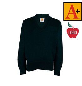 School Apparel A+ Green Pullover Sweater #6500