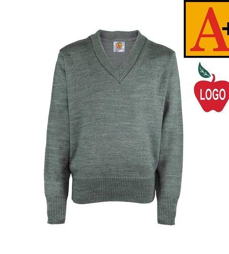 School Apparel A+ Heather Grey Pullover Sweater #6500