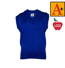 School Apparel A+ Mayfair Blue Sleeveless Sweater Vest #6600