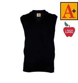 School Apparel A+ Youth X-Large Navy Blue Sleeveless Sweater Vest #6600
