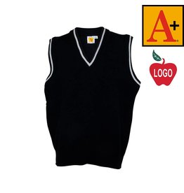 School Apparel A+ Navy Blue Sleeveless Sweater Vest #6603