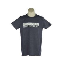 Screenprinted AA18 Navy Blue Short Sleeve Tee