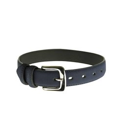 EE Dee Trim Navy Blue Leather Belt #FBE166