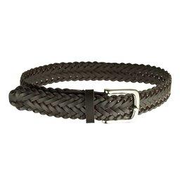 EE Dee Trim Brown Braided Belt #FB33
