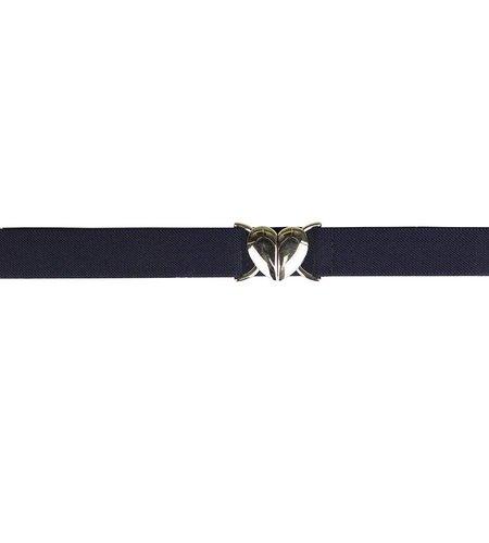 EE Dee Trim Navy Blue Adjustable Heart Belt #FB37H