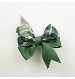 EE Dee Trim Christopher Plaid #1B Ribbon Bow #FBE197