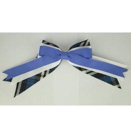 EE Dee Trim Rampart Plaid #29 Triple Layer Bow #FBE189