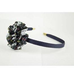 EE Dee Trim Marymount Plaid #8B Rosette Headband #FBE13HB