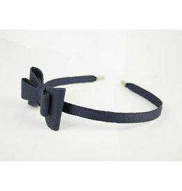EE Dee Trim Navy Blue Bow Headband #FBE9HB