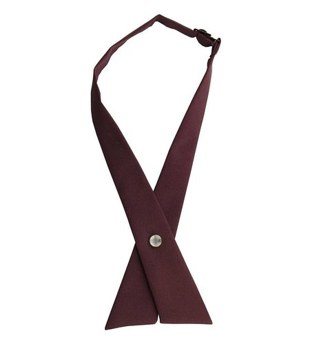 EE Dee Trim Burgundy Girls Cross Tie #FBE43