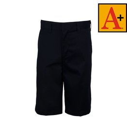 School Apparel A+ Navy Blue Plain Front Walk Shorts #7099