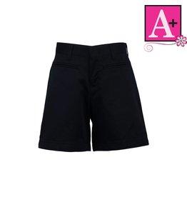 School Apparel A+ Navy Blue Plain Front Walk Shorts #7362R
