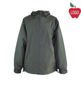 Tri Mountain Charcoal Grey Hooded Nylon Jacket #8480