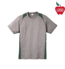 Sport-Tek Grey & Green Short Sleeve Tee #ST361