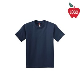 Hanes Navy Blue Short Sleeve Tee #5450
