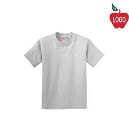 Hanes Ash Grey Short Sleeve Tee #5450