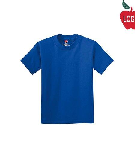 Hanes Royal Blue Short Sleeve Tee #5450
