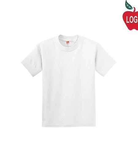 Hanes White Short Sleeve Tee #5450