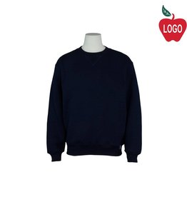 Russell Youth Large Navy Blue Crew-neck Sweatshirt #998