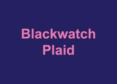 Blackwatch Plaid