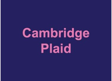 Cambridge Plaid