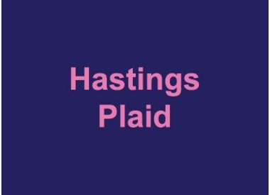 Hastings Plaid