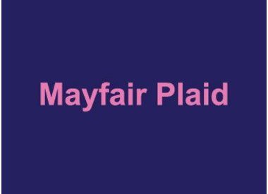 Mayfair Plaid