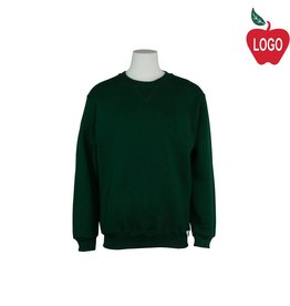 Russell Juvenile Large Green Crew-neck Sweatshirt #998