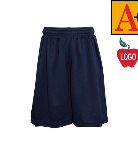 School Apparel A+ Adult XX-Large Navy Blue Mesh Athletic Shorts #6212
