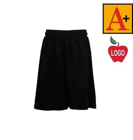School Apparel A+ Black Mesh Athletic Shorts #6212