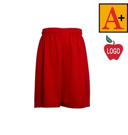 School Apparel A+ Red Mesh Athletic Shorts #6212