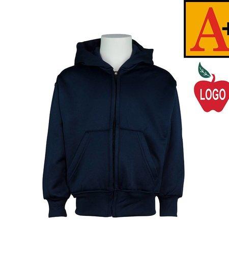 School Apparel A+ Navy Blue Full Zip Sweatshirt #6247