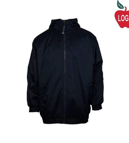 Charles River Navy Blue Hooded Nylon Jacket #8921 - Youth Large