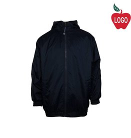 Charles River Navy Blue Hooded Nylon Jacket #8921