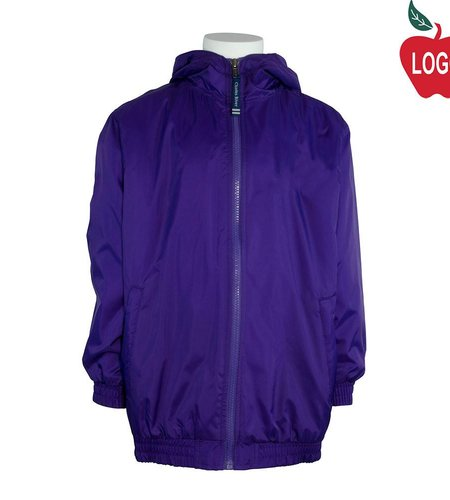 Charles River Purple Hooded Nylon Jacket #8921