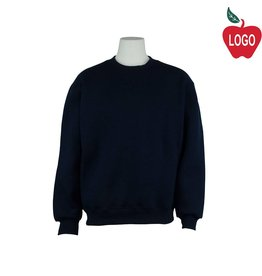 Soffe Adult Small Navy Blue Crew-neck Sweatshirt #9000
